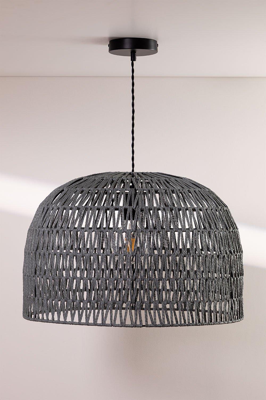 Lampada da soffitto in carta intrecciata Mylo, immagine della galleria 1