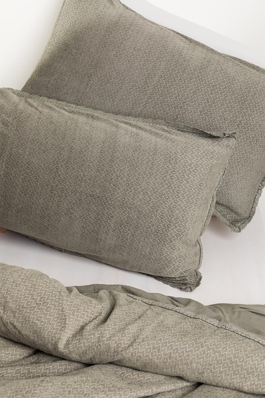 Federa per cuscino rettangolare in cotone (50x75 cm) Alaska, immagine della galleria 1