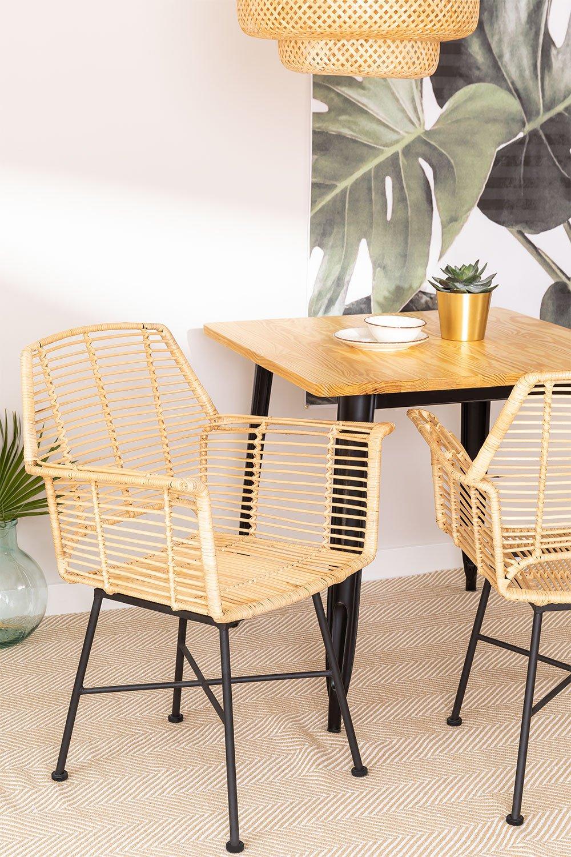 Sedia da pranzo in rattan naturale Mimbar Design, immagine della galleria 1
