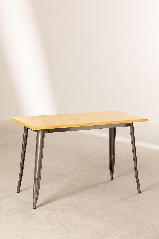 Tavolo (120x60) LIX Legno Piallato, immagine della galleria 1