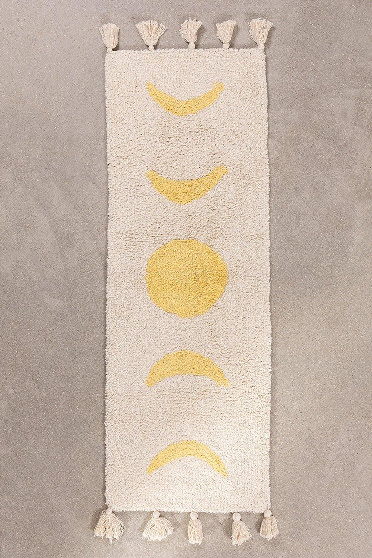 Tappetino da bagno in cotone (133x41 cm) Nocti, immagine della galleria 1