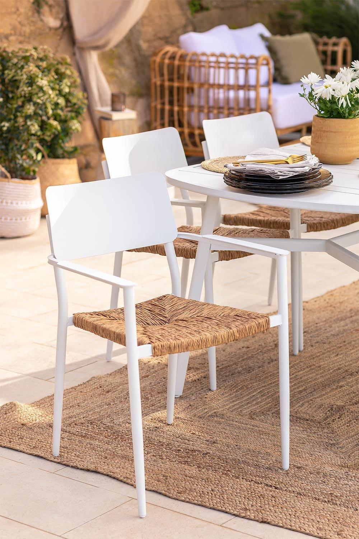 Pack 2 sedie da giardino in alluminio Amadeu, immagine della galleria 1
