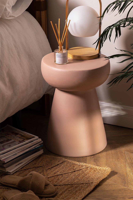 Tavolino rotondo in ceramica Karus, immagine della galleria 1