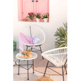 Set 2 stoelen en 1 tafel in polyethyleen en staal New Acapulco, miniatuur afbeelding 1
