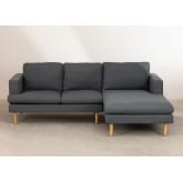 Chaise Longue Sofa 3 zitplaatsen in Arnold stof, miniatuur afbeelding 3