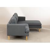 Chaise Longue Sofa 3 zitplaatsen in Arnold stof, miniatuur afbeelding 4