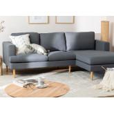 Chaise Longue Sofa 3 zitplaatsen in Arnold stof, miniatuur afbeelding 1