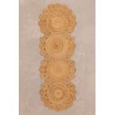 Vloerkleed van natuurlijk jute (180x60 cm) Otilie, miniatuur afbeelding 1