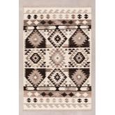 Vloerkleed van wol en katoen (252x165 cm) Logot, miniatuur afbeelding 1