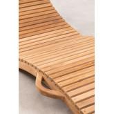Kedas teakhouten opvouwbare ligstoel, miniatuur afbeelding 6