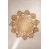 Vloerkleed naturel jute (Ø157 cm) Isham, miniatuur afbeelding 2