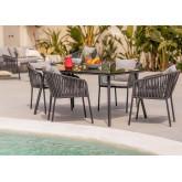 Set van 4 Arhiza Supreme stoelen & Arhiza tafel, miniatuur afbeelding 1