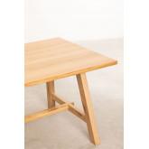 Rechthoekige houten eettafel (220x95 cm) Kayr, miniatuur afbeelding 4