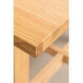 Rechthoekige houten eettafel (220x95 cm) Kayr, miniatuur afbeelding 5