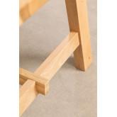 Rechthoekige houten eettafel (220x95 cm) Kayr, miniatuur afbeelding 6