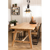 Rechthoekige houten eettafel (220x95 cm) Kayr, miniatuur afbeelding 1