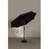 Parasol met licht in stof en staal (Ø257 cm) Weky, miniatuur afbeelding 6