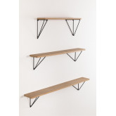 Glai houten wandplanken set, miniatuur afbeelding 2