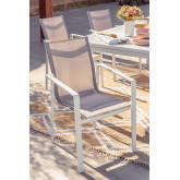 Pak 2 buitenstoelen in aluminium Eika, miniatuur afbeelding 1