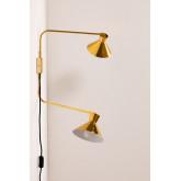 Wandlamp met dubbele kap Two, miniatuur afbeelding 1