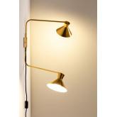 Wandlamp met dubbele kap Two, miniatuur afbeelding 2