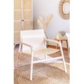 Leges kunstleer stoel met armleuningen, miniatuur afbeelding 1