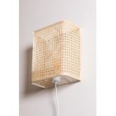 Naoke rotan wandlamp, miniatuur afbeelding 3