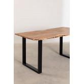 Rechthoekige eettafel in gerecycled hout Sami 160 cm, miniatuur afbeelding 3