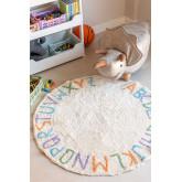 Rond katoenen vloerkleed (Ø104 cm) Letters Kids, miniatuur afbeelding 1
