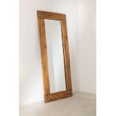 Spiegel van gerecycled hout (178,5x79 cm) Drev, miniatuur afbeelding 2