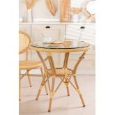 Ronde eettafel in synthetisch rotan (Ø75 cm) Siena, miniatuur afbeelding 1