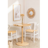 Ronde eettafel in Tuhl essenhout, miniatuur afbeelding 1