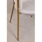 Nalon Fluwelen eetkamerstoel, miniatuur afbeelding 6