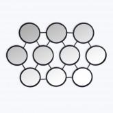 Metalen wandspiegel (55,8x83,5 cm) Favus, miniatuur afbeelding 1