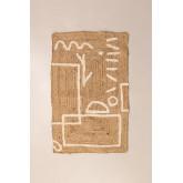 Jute en katoenen vloerkleed (112x71 cm) Dudle, miniatuur afbeelding 2