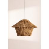 Jous plafondlamp van gevlochten papier, miniatuur afbeelding 2