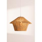 Jous plafondlamp van gevlochten papier, miniatuur afbeelding 3