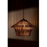 Jous plafondlamp van gevlochten papier, miniatuur afbeelding 4
