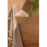 Jous plafondlamp van gevlochten papier, miniatuur afbeelding 1