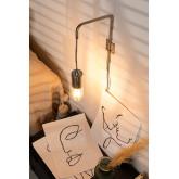 Alli metalen wandlamp, miniatuur afbeelding 1