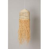 Plafondlamp in Raffia Yul, miniatuur afbeelding 2