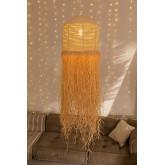 Plafondlamp in Raffia Yul, miniatuur afbeelding 3