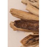 Ronde wandspiegel in hout (Ø50 cm) Laki , miniatuur afbeelding 5