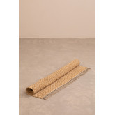 Katoen en jute vloerkleed (177x122 cm) Durat, miniatuur afbeelding 2