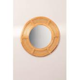 Ronde rotan wandspiegel (Ø81 cm) Lopo, miniatuur afbeelding 2