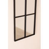 Wandspiegel in metalen raameffect (132x38 cm) Rania, miniatuur afbeelding 4