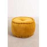 Kelli Round Velvet Puff, miniatuur afbeelding 2