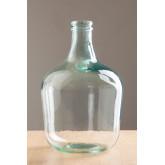 Demijohn in krik van gerecycled transparant glas, miniatuur afbeelding 1