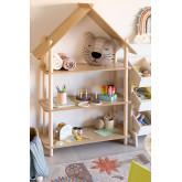 Zita kinderplank met 3 houten planken, miniatuur afbeelding 1