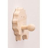 Wandkapstok voor kinderen in hout Lion Kids, miniatuur afbeelding 3
